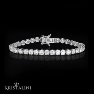 Round Brilliant Diamonds Tennis Bracelet