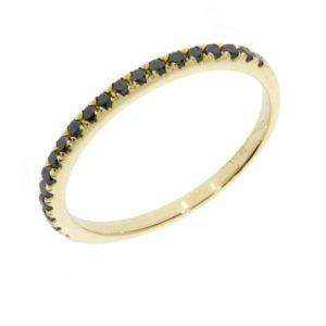 Half Eternity Ring Black Diamonds