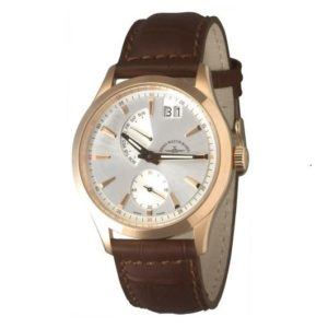 Gentleman Big Date Quartz gold plated