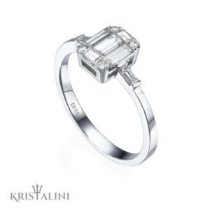 Emerald Shape Diamond Ring Combination