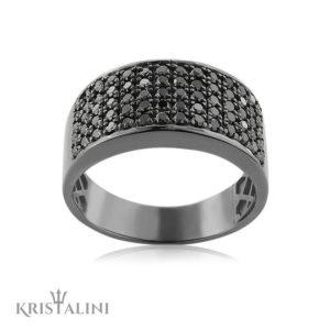 Man 5 row Diamond Ring