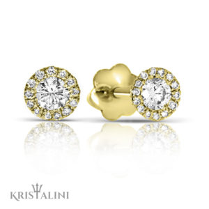 Classic Essential Diamond halo Earrings