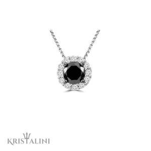 Classic Round Diamond Pendant Halo Necklace