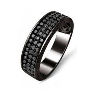 Man 3 row Diamond Ring