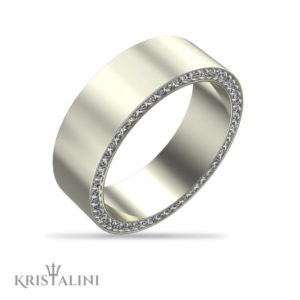 Men's Dual Sided Eternity Diamond Profile Wedding Band
