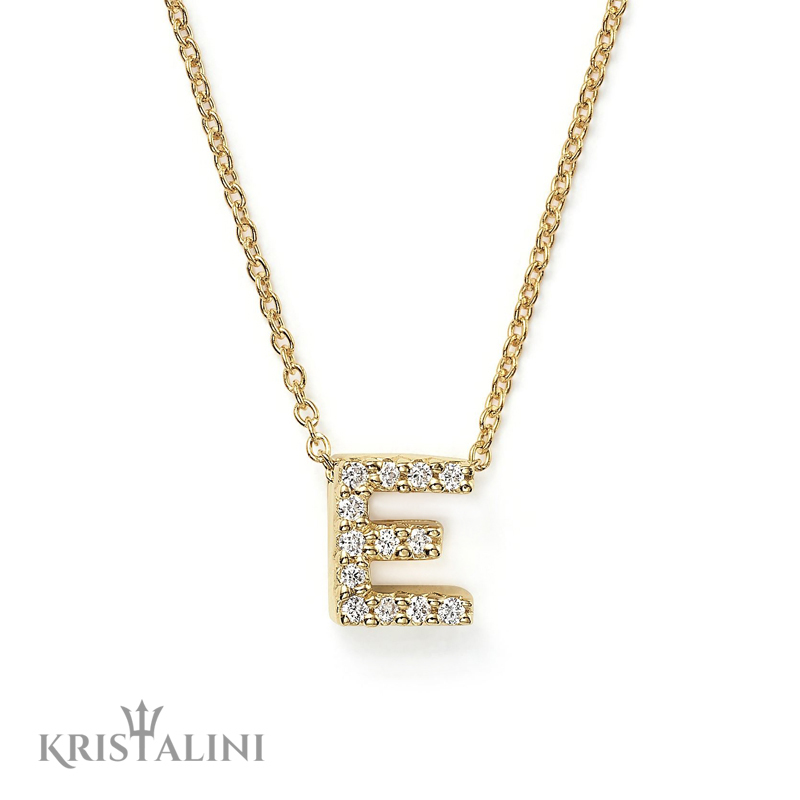 Diamond mini initial letter pendant necklace kristalini diamond mini initial letter pendant necklace aloadofball Gallery