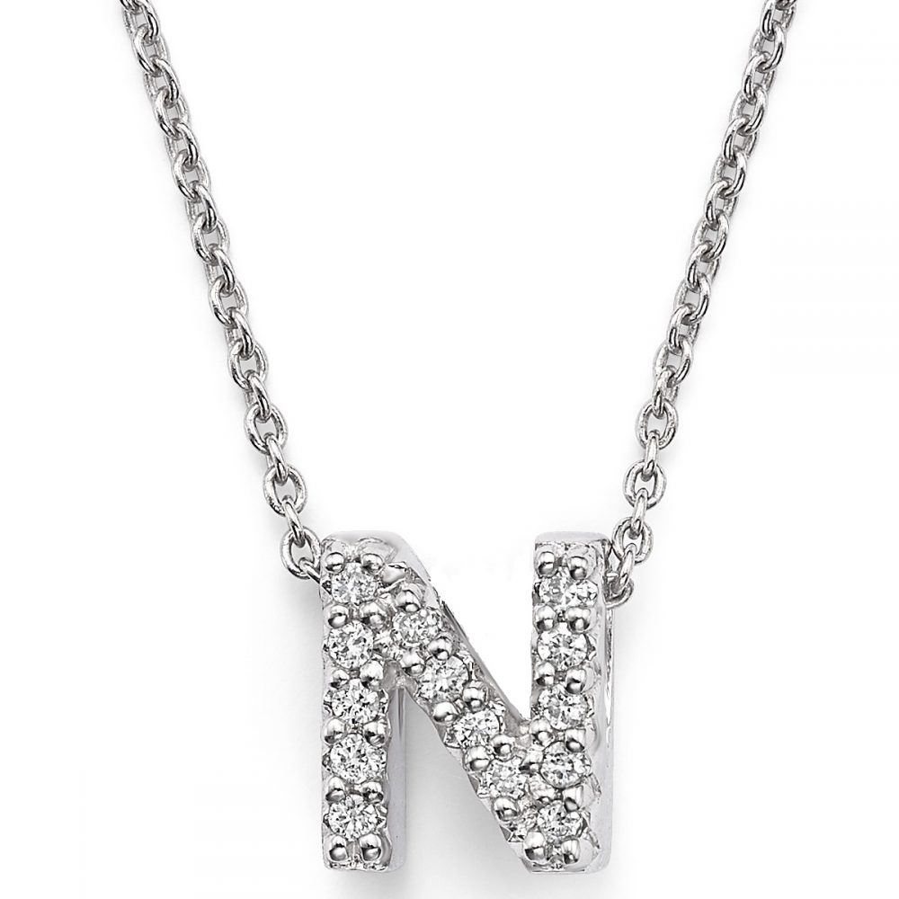 Diamond mini initial letter pendant necklace kristalini diamond mini initial letter pendant necklace aloadofball Images