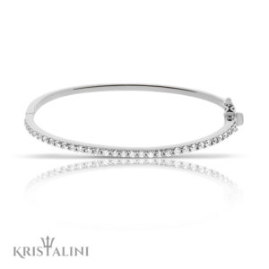 Classic Diamond all around Pave channel set Bangle Bracelet