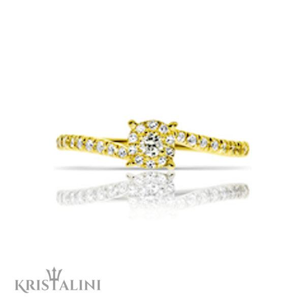 Diamond Engagement Ring Halo set Diamonds around the center (2)