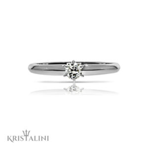 Classic Diamond Solitaire Engagment Ring 6 prongs