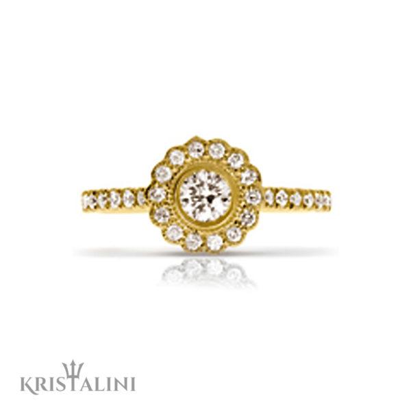 Diamond Engagement Ring Halo set with Diamonds around the center (2)