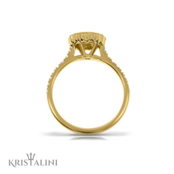 Engagement Diamond Ring Halo set with Diamonds around center