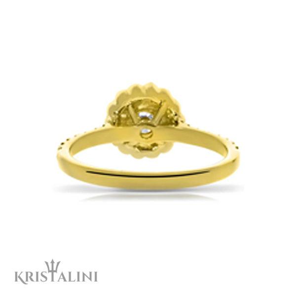 Diamond Engagement Ring Halo set with Diamonds around the center (4)