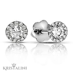 Classic Essential Diamond halo Earrings