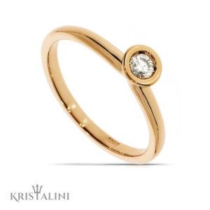 Solitiare Diamond Engagement Ring channel set