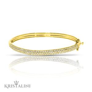 Luxrious Diamonds Tennis Bracelet set with 3 rows of 160 Diamonds