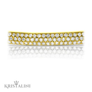 Luxrious Diamonds Tennis Bracelet set with 3 rows of 160 Diamonds