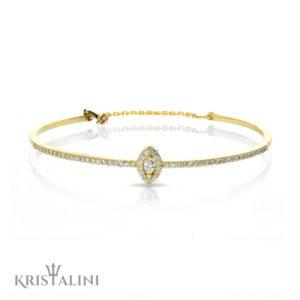 Bengal Diamonds Tennis Bracelet with a Marquise Diamond Center