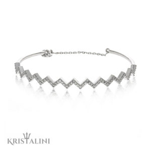 Elegant Diamond Lightning Bracelet Channel Set