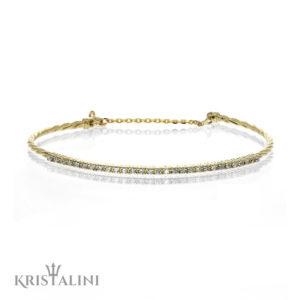 Charming casual Diamond Bracelet channel set