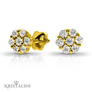 Diamond Stud Earrings 14 stones combination