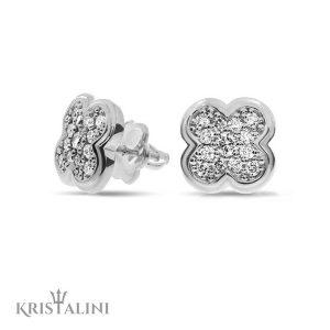 Flower shape Diamond stud Earrings
