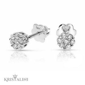 Diamond Stud Earrings 14 stones combination