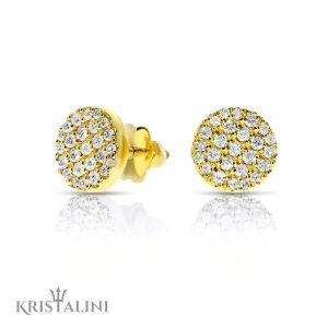Diamond stud Earrings 50 diamonds combined