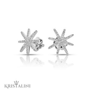 Star fish shape Diamond stud Earrings
