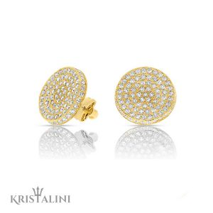 Stunning Diamond stud Earrings 195 stones combined