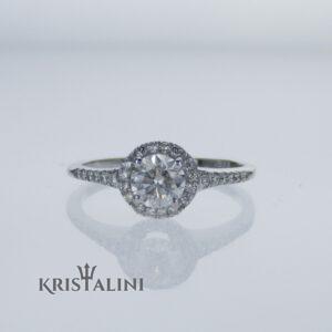 טבעת משובצת ב 28 יהלומים למשקל כולל של 0.65 קרט